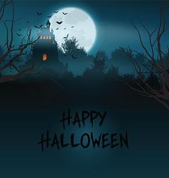 Halloween castle landscape vector image vector image
