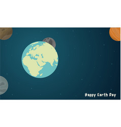 Happy earth day with space style vector