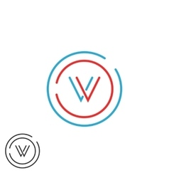 Initials vv combination monogram logo v letter vector