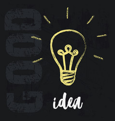 lightbulb ideas concept vector image
