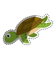 Marine turtle cartoon vector
