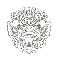 Mythological gods head indonesian traditional art vector