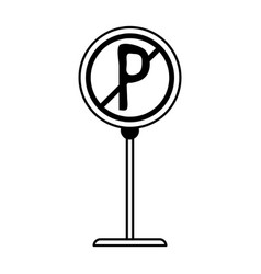 no park zone parking sign icon image vector image vector image
