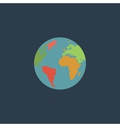 Pictograph of globe vector image