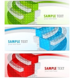 set of bright banners vector image vector image