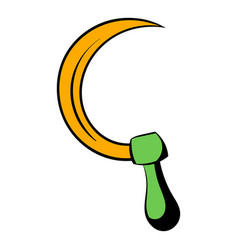 sickle icon cartoon vector image