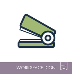 stapler outline icon workspace sign vector image vector image
