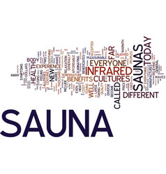 The new sauna text background word cloud concept vector