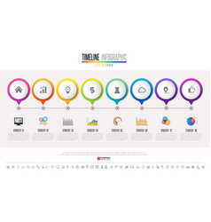 timeline infographics design template vector image vector image