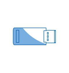 Usb backup device technology office vector