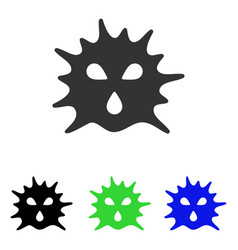 Virus structure flat icon vector