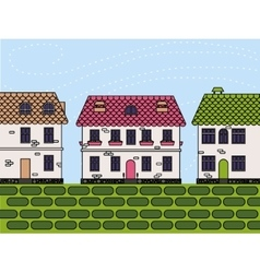 Town colorful vector