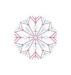 Bright snowflake isolated on white vector