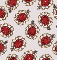 Beautiful seamless pattern with fashion jewelry vector image