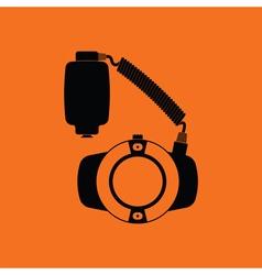 Icon of portable circle macro flash vector