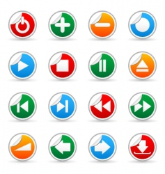 media sticker icons vector image