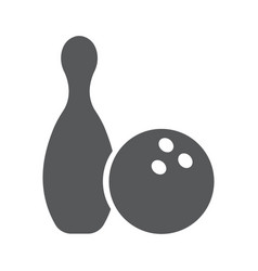 Icon of bowling vector