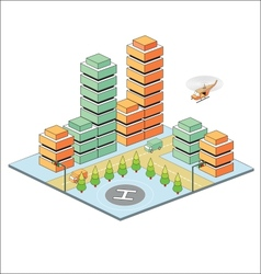Town in isometric vector
