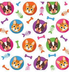 cat amp dog pattern vector image