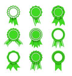 Green award medals vector
