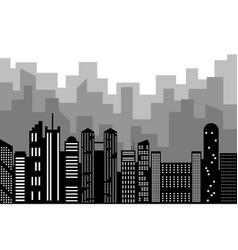 Black random city skyline vector