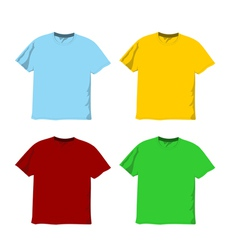 Colorful blank t-shirts vector