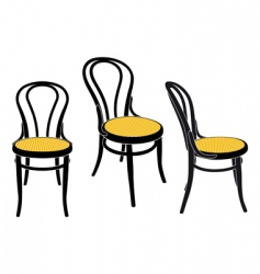 vienna caf chair vector image
