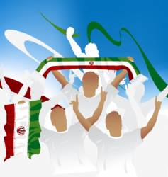 Iran crowd vector