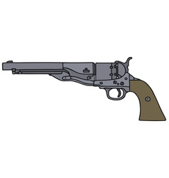 Old american handgun vector image