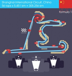 F1 china circuit 2011 vector