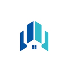 Modern house building architecture logo vector