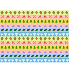 seamless horizontal pattern of christmas symbols vector image