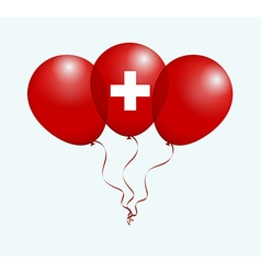 Balloons in as switzerland swiss national flag vector