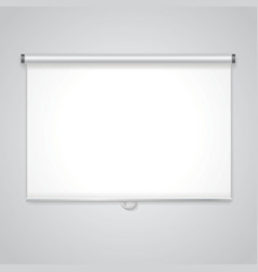 Projection presentation screen white board for vector