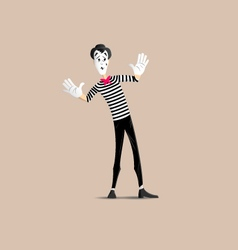 Mime pantomime vector image