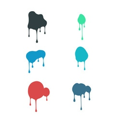 A set of fluid strains vector image
