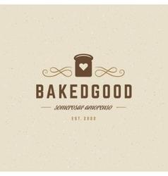 Bakery logo template design element vector