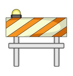 Barrier single icon in cartoon stylebarrier vector