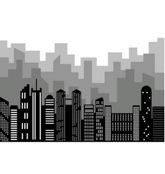 black random city skyline vector image vector image