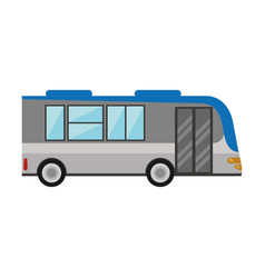 bus public transport vehicle vector image