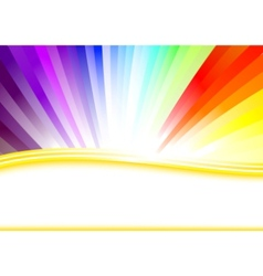 card with colorful rainbow vector image