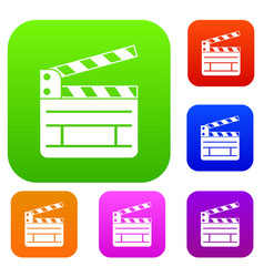 Clapperboard set collection vector