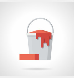 cleaning bucket flat color icon vector image