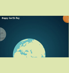 Collection world style for earth day vector