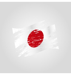 Color japan national flag grunge style eps10 vector