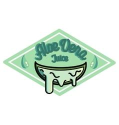 Color vintage Aloe vera emblem vector image vector image