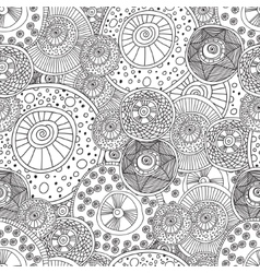 Coloring pages for adults bookSeamless black and vector image