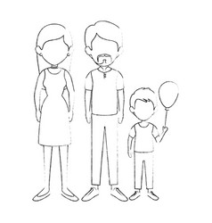 Family with kids vector
