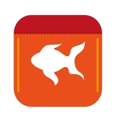 fish food icon vector image vector image