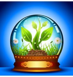 Glass ball vector